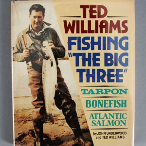 "Ted Williams Signed ""The Big Three"" Fishing Book - JSA"