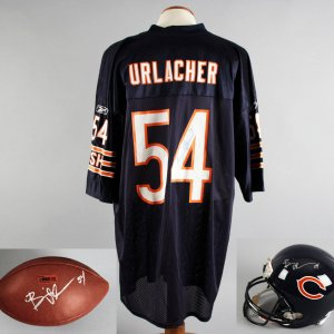 Brian Urlacher Signed Chicago Bears Jersey, Football & Full Size Helmet - JSA
