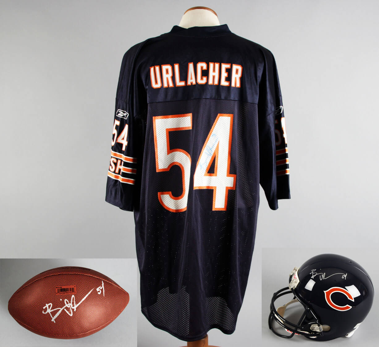 huge discount 4e425 4c398 Brian Urlacher Signed Chicago Bears Jersey, Football & Full ...