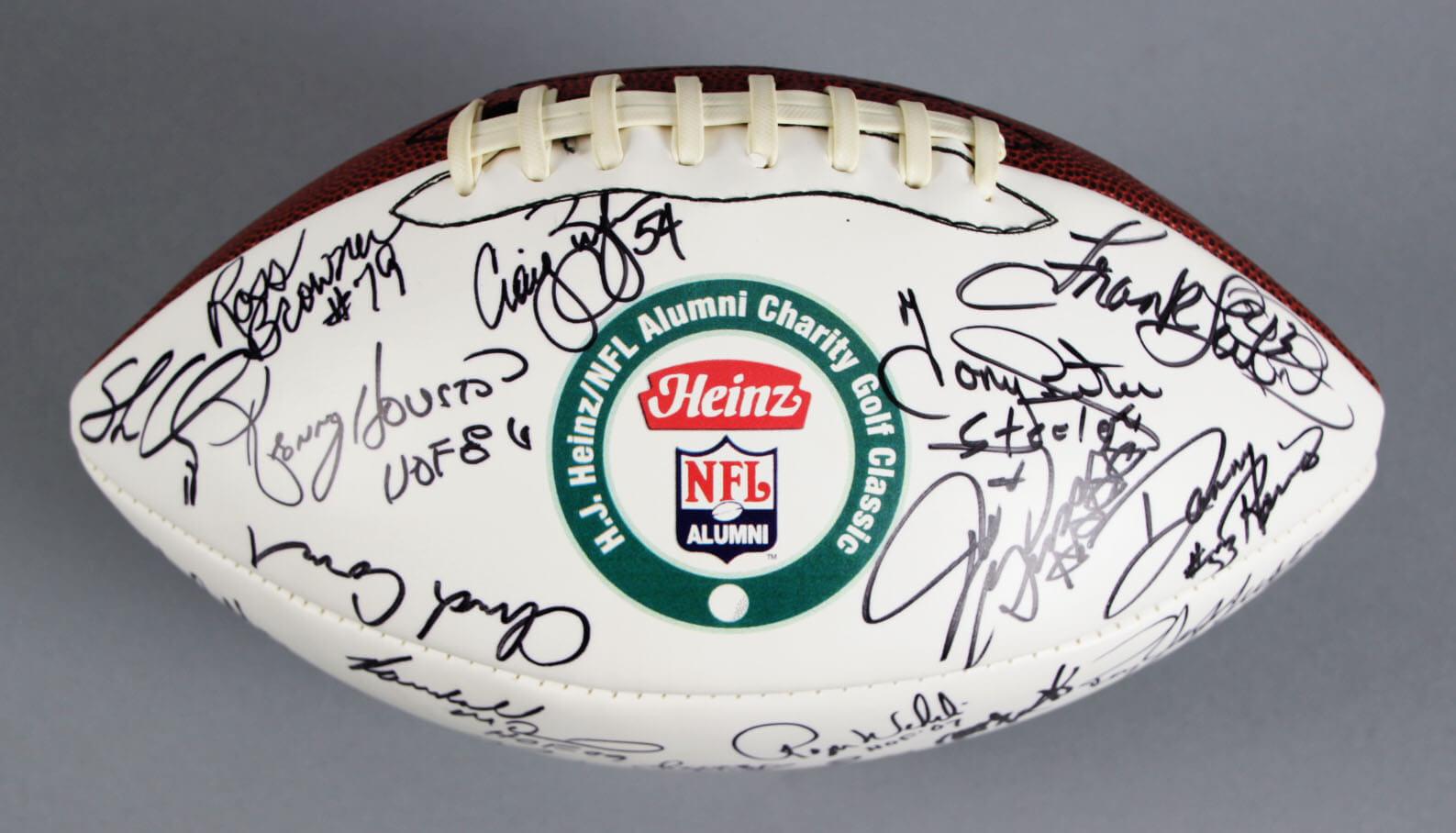 Heinz/NFL Alumni Charity Golf Classic Signed Football L.C. Greenwood,Lynn Swann - JSA