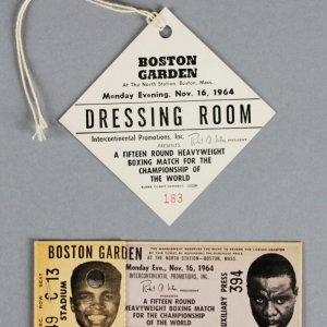 11/16/1964 Cassius Clay VS. Sonny Liston II (BOSTON GARDEN) Full Ticket & Official's Pass