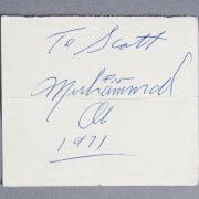 Muhammad Ali Signed & Dated 1971 Cut- JSA Full LOA