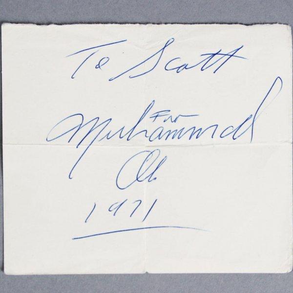 Muhammad Ali Signed & Dated 1971 Cut- JSA Full LOA