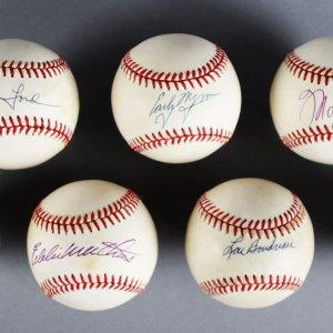 MLB HOFer's Signed Baseballs Lot (7) - Whitey Ford, Early Wynn etc. - JSA