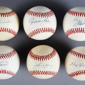 MLB HOFer's & All-Star's Signed Baseballs Lot (6) - Stan Musial, Bobby Doerr etc. - JSA