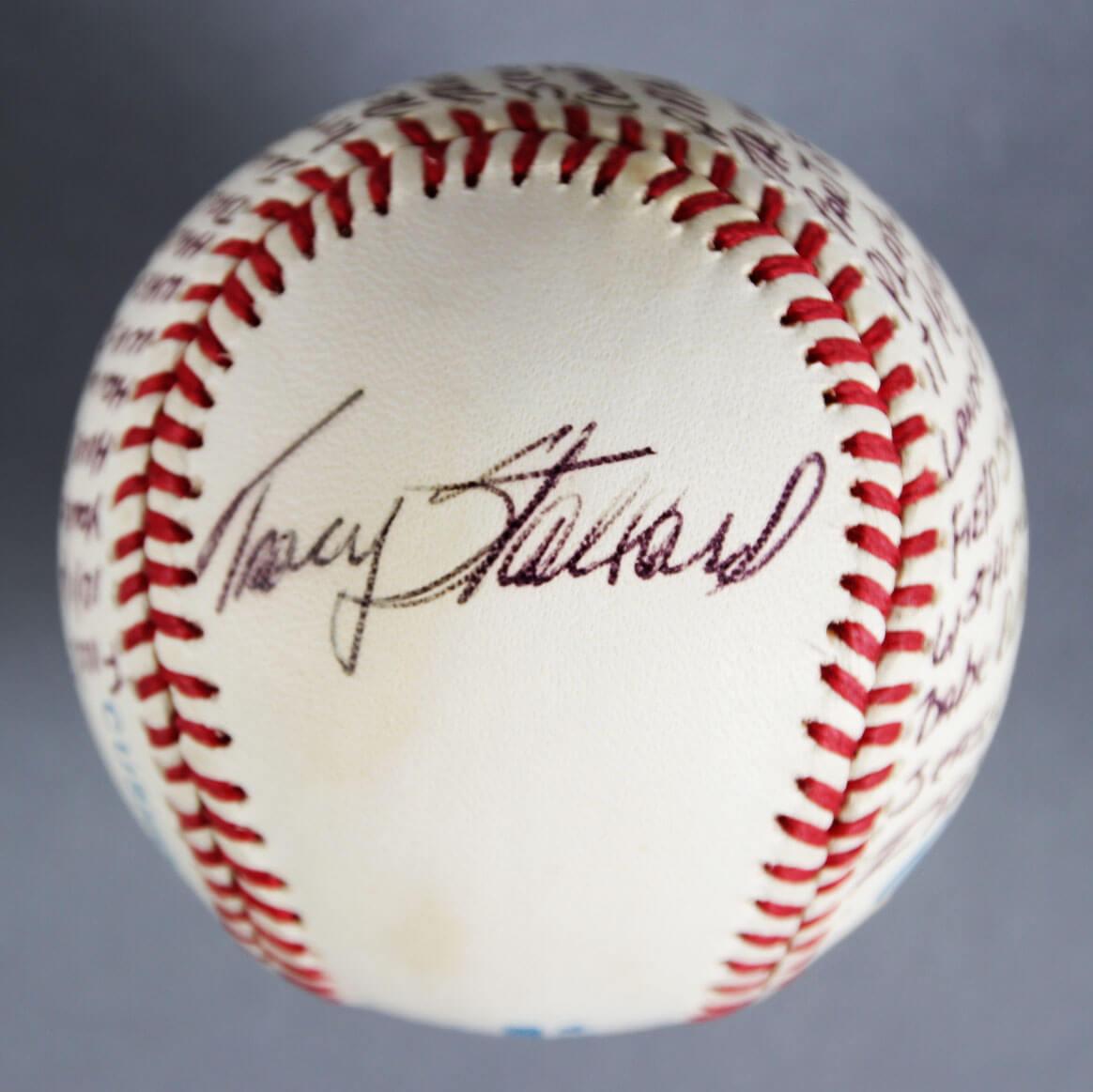 Tracy Stallard Signed Boston Red Sox Baseball - COA JSA