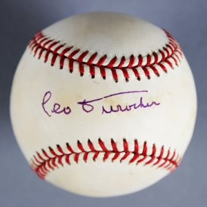 Leo Durocher Signed Brooklyn Dodgers Baseball - JSA