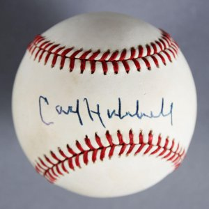 Carl Hubbell Signed New York Giants Baseball - JSA