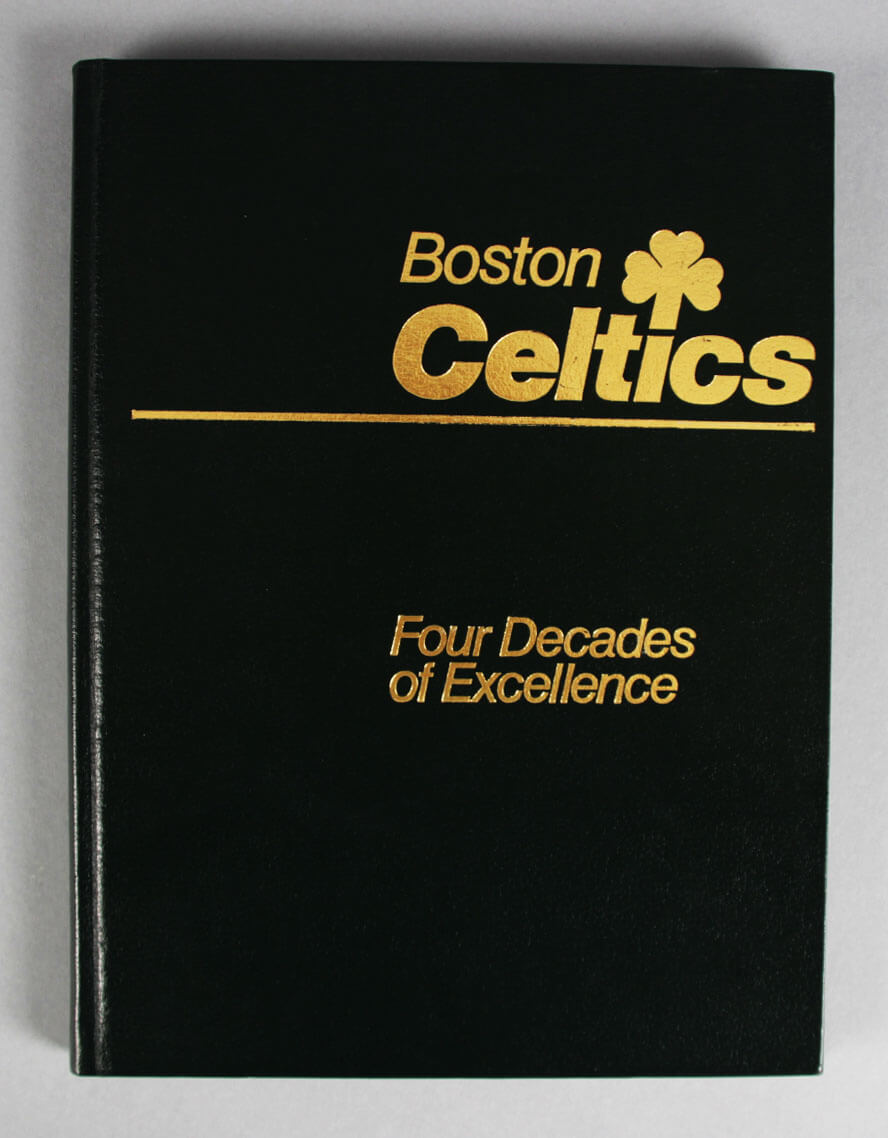"""Boston Celtics Multi-Signed """"Four Decades of Excellence"""" Book - 25+ Red Auerbach, Larry Bird etc. - JSA"""