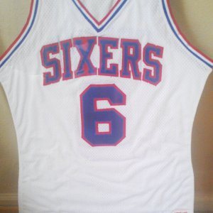 1984-85 Philadelphia 76ers Julius Erving Dr. J. Game-Worn Used, Signed Jersey (76ers Team Letter)