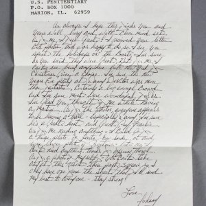 John Gotti Handwritten Signed Letter from Prison JSA Full LOA