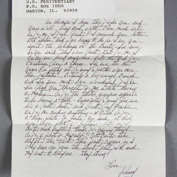 John Gotti Handwritten Signed Letter from Prison JSA Full LOA