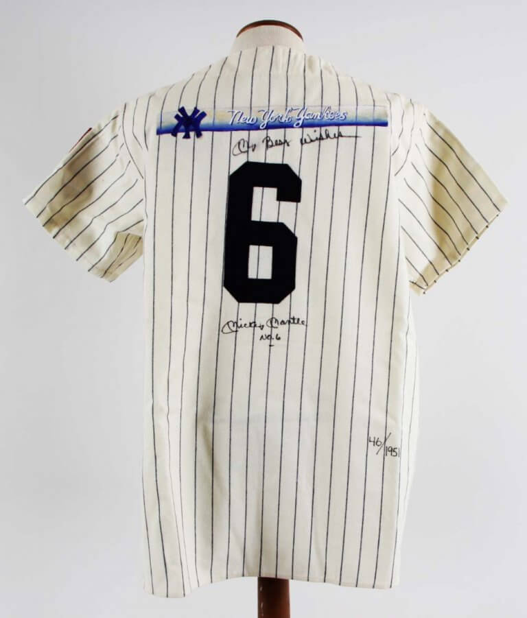 differently eb10b a209f Mickey Mantle Signed New York Yankees Jersey Inscribed No. 6 UDA COA 46/1951