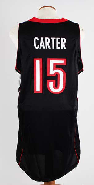 new styles 5a31b 69c10 2000-01 Vince Carter Game-Worn Toronto Raptors Jersey COA 100% Authetic Team