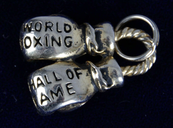 Jerry Quarry Boxing Hall of Fame Charm - COA Family Letter