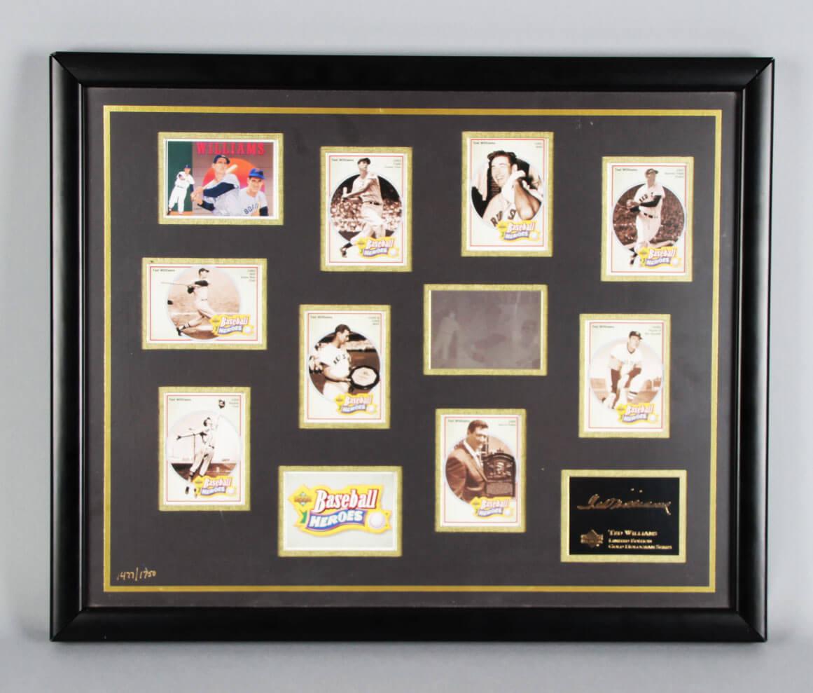 1992 Upper Deck Ted Williams Le Gold Hologram Baseball Card Set Series Display