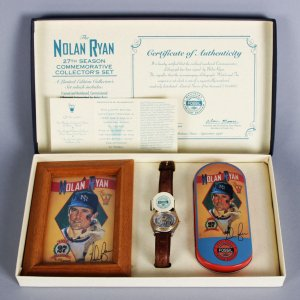 "Nolan Ryan ""The Strikeout King"" LE Fossil Watch w/ Signed Photo"