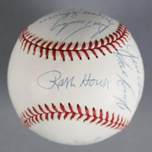 1961 New York Yankees Multi-Signed Baseball 15 Sigs. Whitey Ford, Ralph Terry etc. - JSA