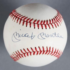 Mickey Mantle Signed New York Yankees Baseball - JSA