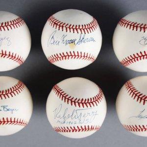 1961 New York Yankees Signed Baseball Lot (6) - Yogi Berra, Hector Lopez etc. - JSA
