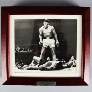 Muhammad Ali Signed LE Fossil Watch Display - JSA