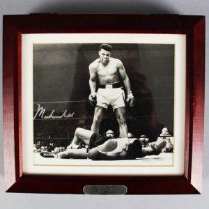 Muhammad Ali Signed LE Fossil Watch Display - JSA