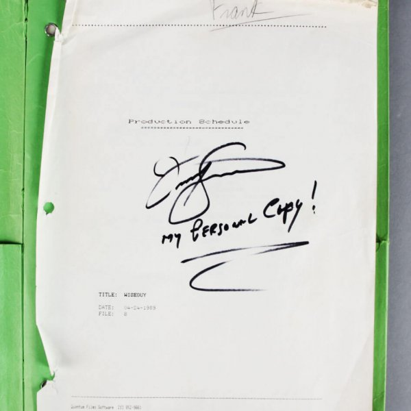 1988 Frank Sivero Signed Goodfellas Personal Production Schedule