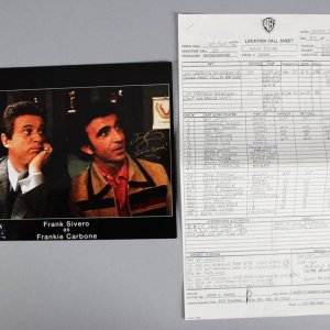 Frank Sivero Signed Goodfellas 8x10 Photo & Personal Call Sheet