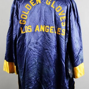 1965 Jerry Quarry Gold Gloves Champ Worn Robe COA Family Letter