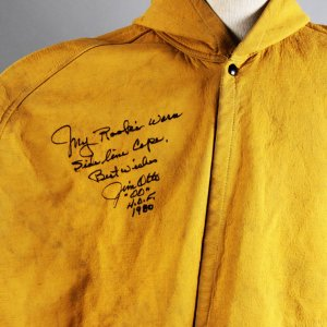 1960s Jim Otto Game-Worn, Signed Oakland Raiders Rookie Era Sideline Cape (JSA, Player Letter & 100% Team LOA)