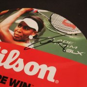 A Serena Williams Signed Wilson Racquet Bag & A Venus Williams Signed Racquet Label.