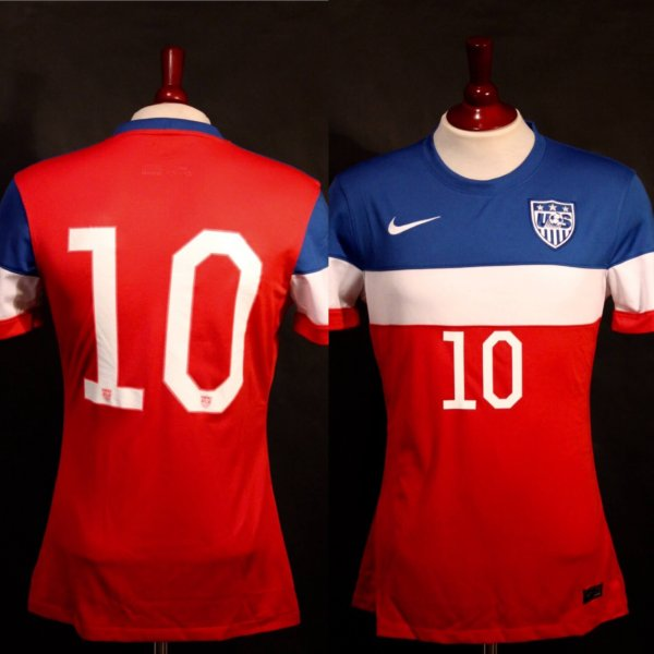 A Christian Pulisic Game-Used #10 US National Team Shirt.  11/28/2014 USA v ENG U17's.