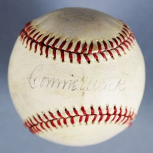 Connie Mack & Al Simmons Signed Philadelphia Athletics Baseball - JSA Full LOA