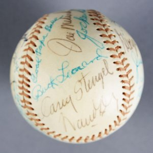 MLB HOFer's Multi-Signed Baseball - Casey Stengel, Joe Medwick, etc. - JSA Full LOA