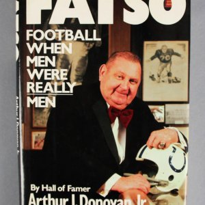 "Arthur Donovan Jr. Signed ""Fatso"" Book - COA 100% Team"