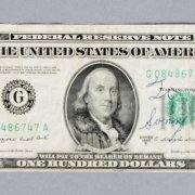Sonny Liston Signed $100 Dollar Bill - JSA Full LOA