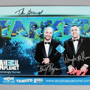 Tanked 8.5x11 Signed Photo Brett Raymer,  Wayde King  Heather King, Animal Planet - COA