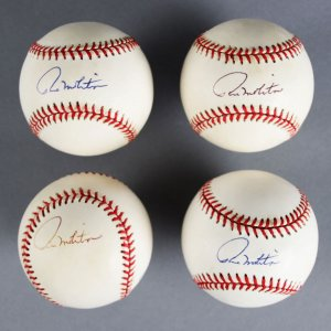 Paul Molitor Signed Milwaukee Brewers Baseballs Lot (4) - JSA