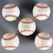 MLB Pitchers Signed Baseball Lot (5) - Bob Gibson, Nolan Ryan - JSA