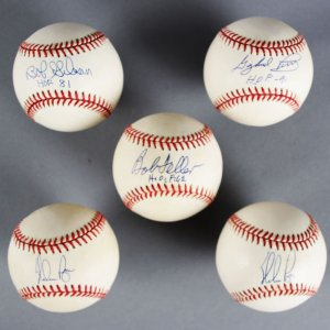 MLB Pitchers Signed Baseball Lot (5) - Bob Gibson, Nolan Ryan - JSA