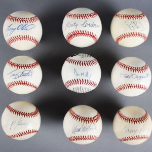 Signed Baseball Lot (9) - Phil Rizzuto, Don Mattingly - JSA