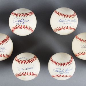 MLB HOFer's Signed Baseball Lot (10) All Inscribed - Stan Musial, Reggie Jackson - JSA