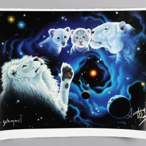 Magicians Siegfried and Roy Signed A Mother's Kiss, A Father's Touch Lithograph Artist Proof
