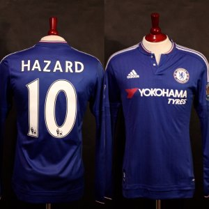 An Eden Hazard Game-Used #10 Chelsea FC Home Shirt.  2015/16 Premier League.