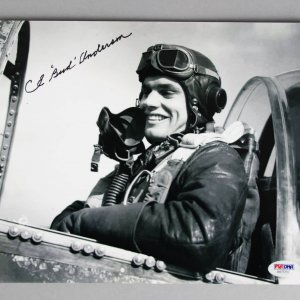 Bud Anderson Signed 8x10 WWII Ace Photo - COA PSA/DNA