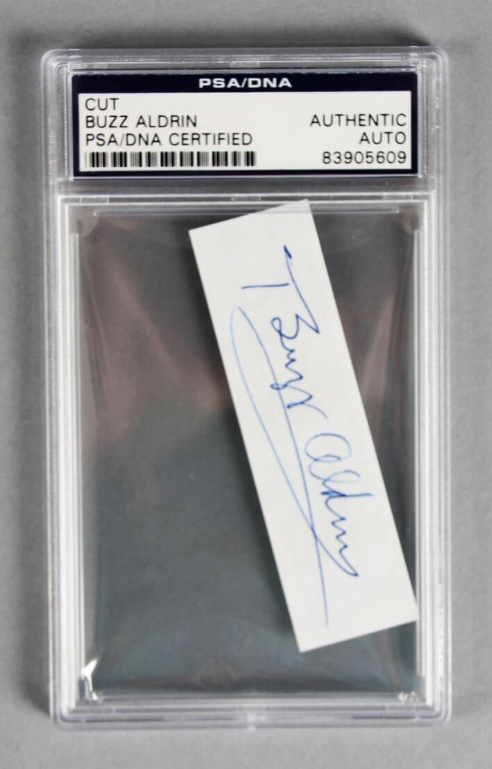 NASA Astronaut - Buzz Aldrin Signed Cut - PSA/DNA