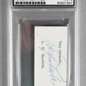 Jimmy Doolittle (Doolittle Raiders) Signed Cut - PSA/DNA