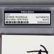 Blue Dog Artist George Rodrigue Signed Cut - PSA/DNA