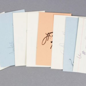 NFL Stars Lot Signed 3x5 Index Cards (8)- Bubba Smith, Art Donovan, etc. - JSA