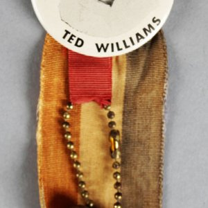 1950's PM10 Baseball Pin/Button/Coin Ted Williams Boston Red Sox Pinback Ribbon